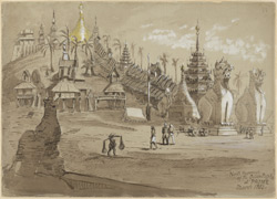 Approach to the Golden Pagoda, Prome (Burma). March 1853
